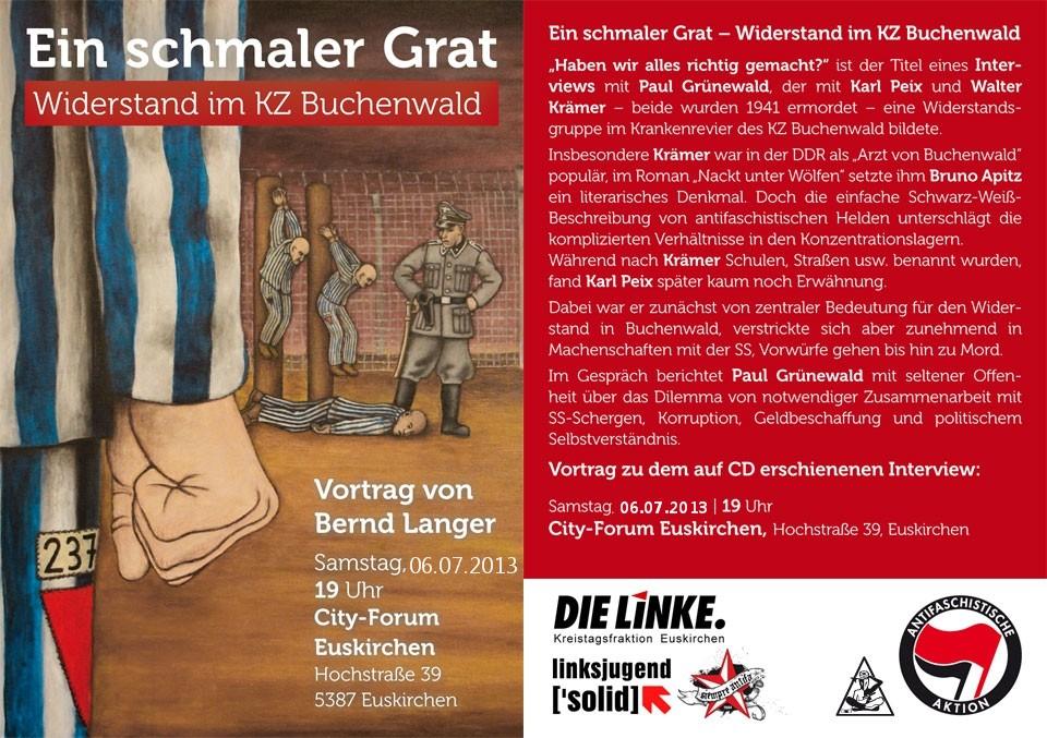 6.7.13  Euskirchen City-Forum, Vortrag: Ein schmaler Grat: